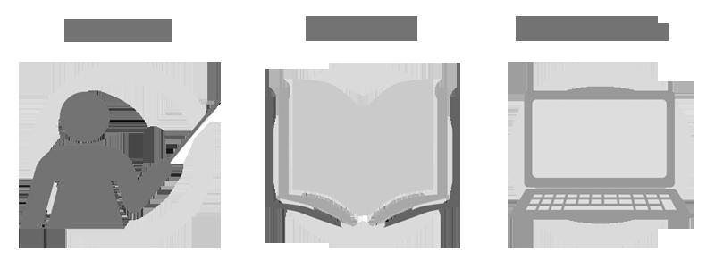 materiales formativos: cursos, ebooks y webinars